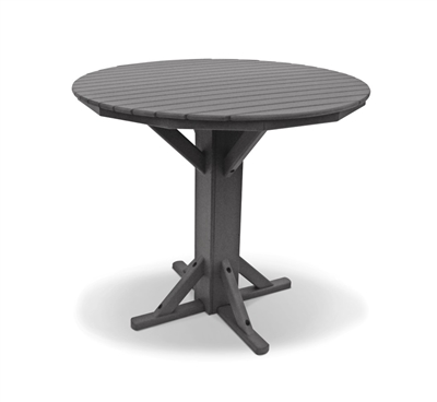 "44"" Bar Height Round Pedestal Table"