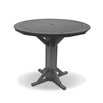 "51"" Bar Height Round Pedestal Table"