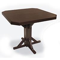 "44"" Square Bar Height Pedestal Table"