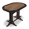 "44""x 66 Oval Framed Counter Height Table"