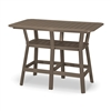 "36"" x 58"" Bar Height Table with 6 Swivel Chairs"