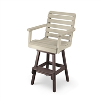 Counter Height Lawn Chair with Swivel