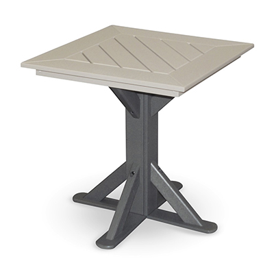 "28"" Square Pedestal Table with 2 Swivel Flex Chairs"