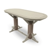 "44"" x 88"" Counter Height Oval Framed Pedestal Table"