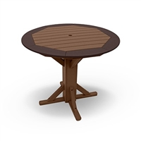 "42"" Round Framed Counter Height Pedestal Table"