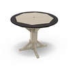 "48"" Round Framed Counter Height Pedestal Table"