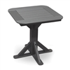 "28"" Square Pedestal Table with 2 Stationary Chairs"