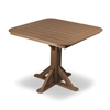 "36"" Heritage Pedestal Table with 4 Folding Chairs"