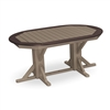 "44"" x 66"" Oval Framed Table with 4 Folding Chairs"