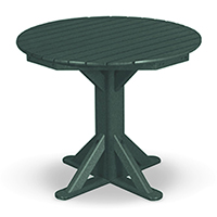 "36"" Cafe Pedestal Table with 2 Stationary Chairs"