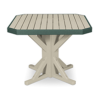 "38"" Square Pedestal Table with 4 Folding Chairs"