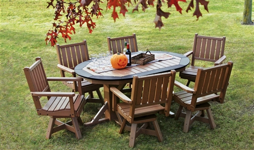 Recycled Plastic Outdoor Dining Tables