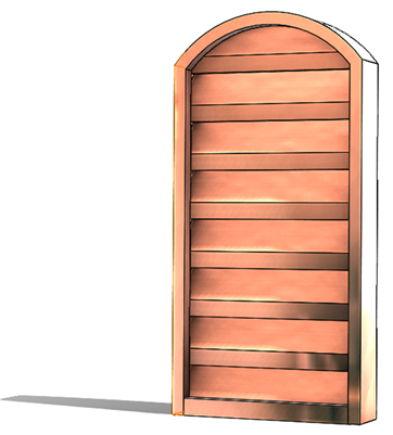 Gable vents, copper gable vent, arch gable vent, arch vent, arch top vent, copper arch top vent, copper gable arch vent,