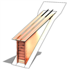 Shed Roof Vent, Sloped Roof Vents, Roof Dormers, Roof Vents, Pitched Roof Vent, Shed Vents, Shed Dormer Vent, Dormer Louver, Copper Roof Louver, roof vent, copper roof louver