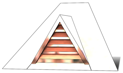 roof vent, copper full dormer, gable roof vent, triangular roof vent, copper gable roof vent, pitched roof vent, pitched copper vent, copper gabble roof vents, triangle roof vent, copper