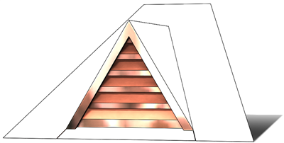 roof vent, copper full dormer, gable roof vent, copper gable vent, pitched roof vent, pitched copper vent, triangular vent, copper triangular vent, vent, roof full dormer
