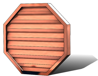 Gable vents, copper gable vent, octagonal gable vent, octagonal vent, copper octagonal louver, copper octagonal gable vent, octagonal louver