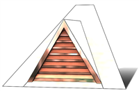 "36"" Triangle Roof Dormer Vent on a 10:12 Roof Pitch"
