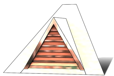 roof vent, copper full dormer, gable roof vent, triangular roof vent, copper gable roof vent, pitched roof vent, pitched copper vent, copper