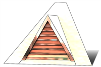"36"" Triangle Roof Dormer Vent on a 12:12 Roof Pitch"