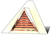 "36"" Triangle Roof Dormer Vent on a 14:12 Roof Pitch"