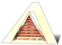 "36"" Triangle Roof Dormer Vent on a 16:12 Roof Pitch"