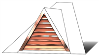 "36"" Triangle Roof Dormer Vent on a 6:12 Roof Pitch"