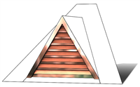 "36"" Triangle Roof Dormer Vent on a 8:12 Roof Pitch"