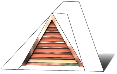 "36"" Triangle Roof Dormer Vent on a 9:12 Roof Pitch"