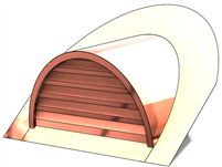 "36"" Half Round Roof Dormer for 10:12 Pitch"
