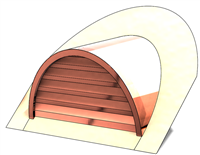 "36"" Half Round Roof Dormer for 11:12 Pitch"