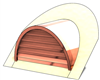 "36"" Half Round Roof Dormer for 12:12 Pitch"