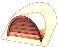 "36"" Half Round Roof Dormer for 13:12 Pitch"