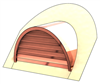 "36"" Half Round Roof Dormer for 14:12 Pitch"