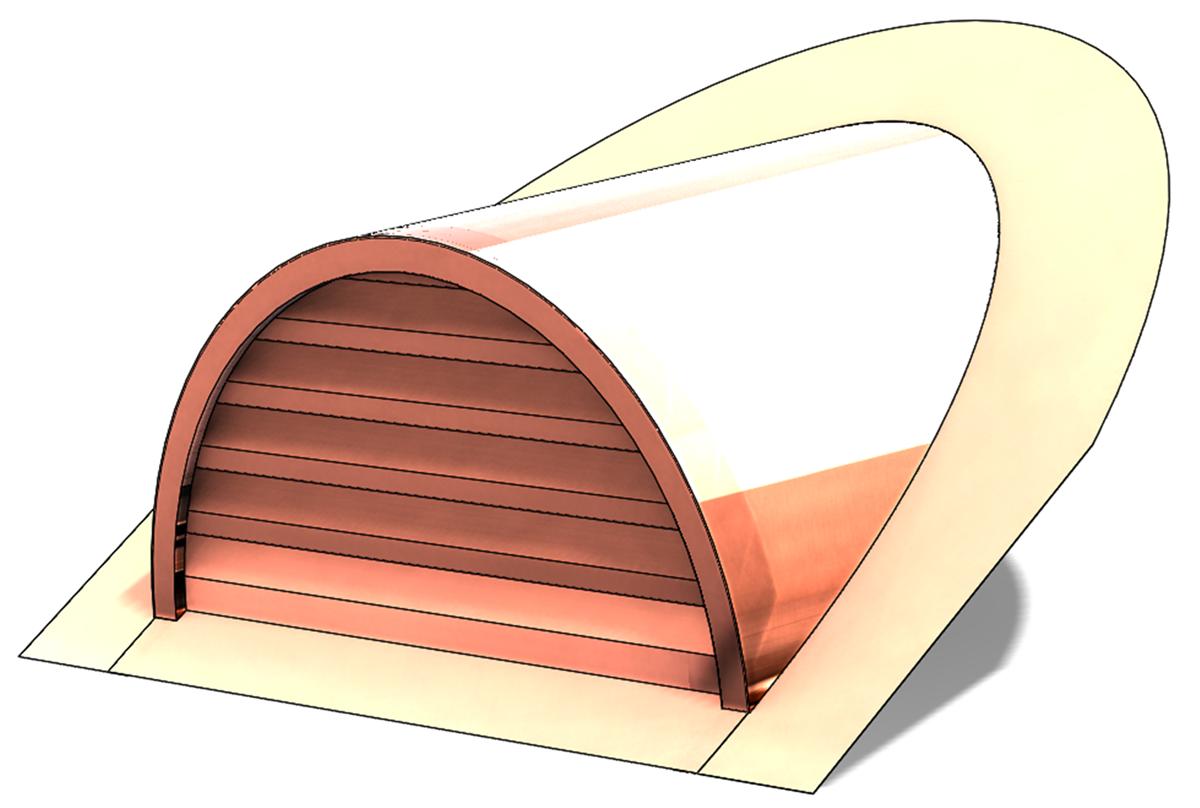 Copper Half Round Roof Vent