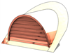 "48"" Half Round Roof Dormer for 10:12 Pitch"