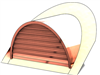 "48"" Half Round Roof Dormer for 11:12 Pitch"