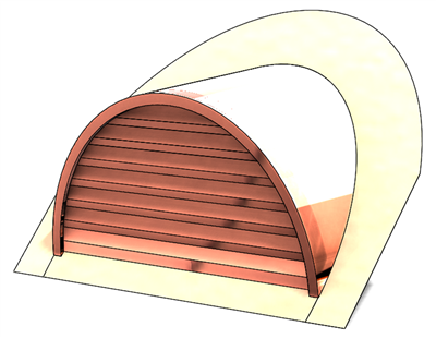 "48"" Half Round Roof Dormer for 12:12 Pitch"