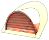 "48"" Half Round Roof Dormer for 13:12 Pitch"