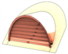 "48"" Half Round Roof Dormer for 14:12 Pitch"