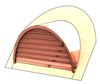 "48"" Half Round Roof Dormer for 15:12 Pitch"