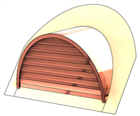 "48"" Half Round Roof Dormer for 16:12 Pitch"