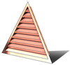 wall vent, gable end vent, copper wall vent, copper gable vent, triangular wall vent, copper wall vent, copper gable vent, gable vent, vent, louver, triangular louver, copper triangular louver, triangular copper vent
