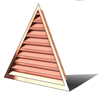 4' Wide 14:12 pitch Gable Louver
