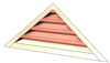 4' Wide 6:12 pitch Gable Louver