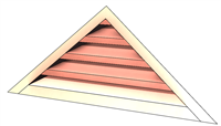 copper, vent, copper vent, copper gable louver, gable louver, copper gable vent, copper gable end vent, gable end vent, gable vent, louver vent, triangular vent, triangle vent, copper louver wall vent