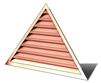 5' Wide 10:12 pitch Gable Louver