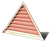 wall vent, gable vent, gable end vent, copper wall vent, copper gable vent, copper gable end vent, triangular louver, copper triangular louver, copper triangular vent, triangular louver, copper gable end vent