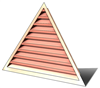5' Wide 11:12 pitch Gable Louver
