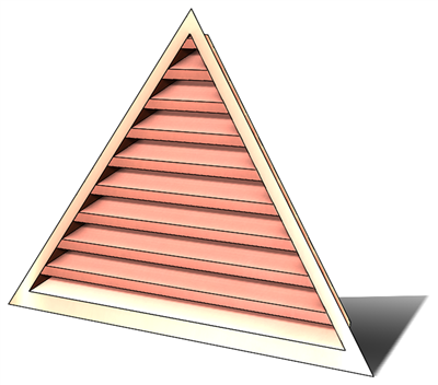 wall vent, gable vent, copper wall vent, gable vent, copper gable vent, triangular wall vent, vent, copper vent, copper louver, louver, triangular louver, triangular vent, copper triangular louver